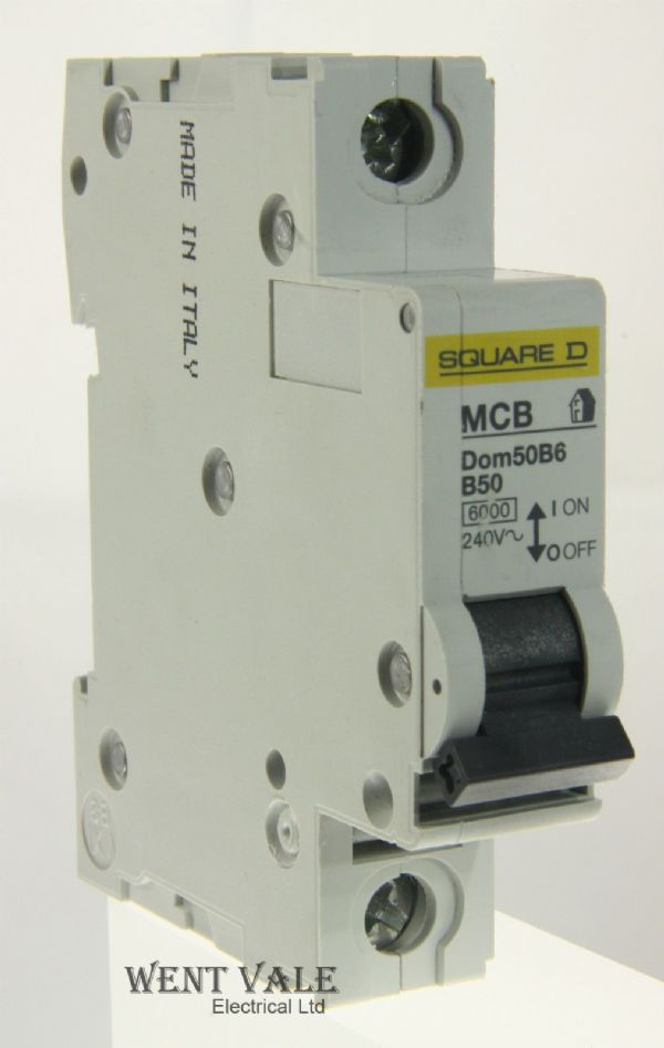 Square D Domae - DOM50B6 - 50a Type B Single Pole MCB New